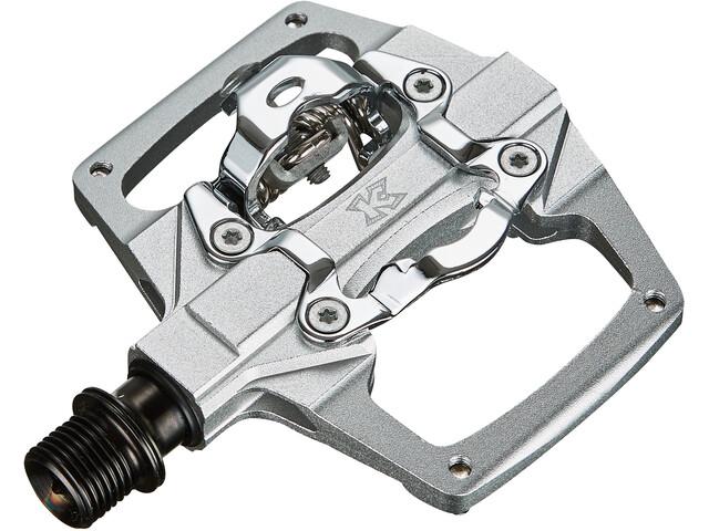 KCNC AM Trap-TI Pedales Automáticos Doble Lado, Plateado